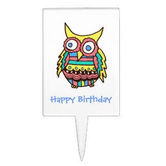 Selección de la torta del búho del cumpleaños figura para tarta