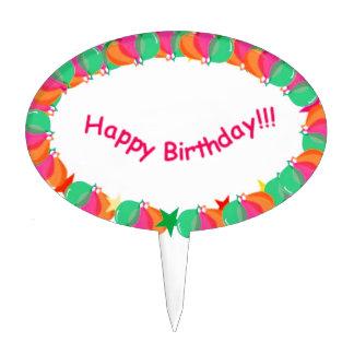 Selección de la torta del feliz cumpleaños palillos de tarta