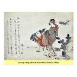 Selección de pinos jovenes por Katsushika, Hokusai Postales