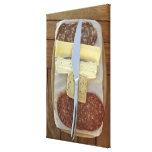 Selección de quesos gastrónomos y de carnes cortad lona estirada galerías