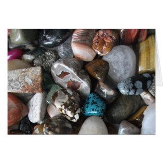 Selección de rocas pulidas tarjeta pequeña
