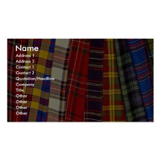 Selección de tartanes tarjetas de visita