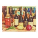 Selección de vinos por el mac de Shawna Tarjetas Postales