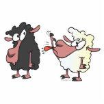 selección en el dibujo animado de las ovejas negra escultura fotografica