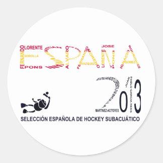 Selección Española de Hockey Subacuático Pegatina Redonda