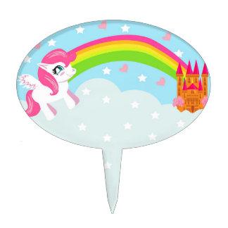 selección linda de la torta del unicornio decoración para tarta
