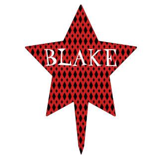 Selección negra y roja de la torta de la estrella  palillos de tarta
