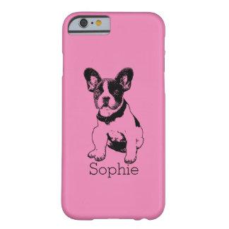 Selección personalizada del perrito del dogo funda de iPhone 6 barely there