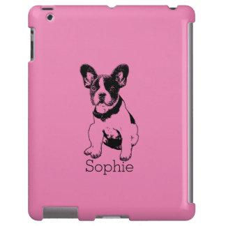 Selección personalizada del perrito del dogo funda para iPad