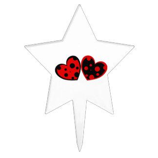 Selección roja y negra de la torta de los corazone figura para tarta