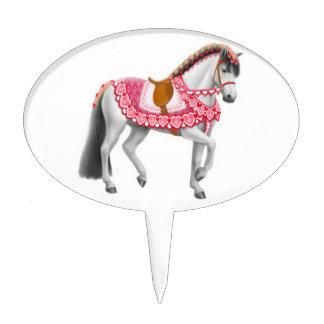 Selección rosada de la torta del caballo del coraz decoración de tarta