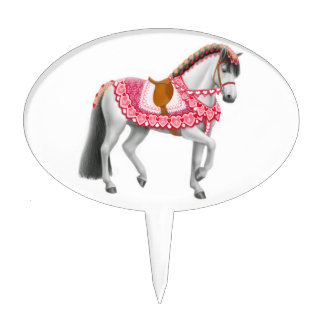 Selección rosada de la torta del caballo del decoración para tarta