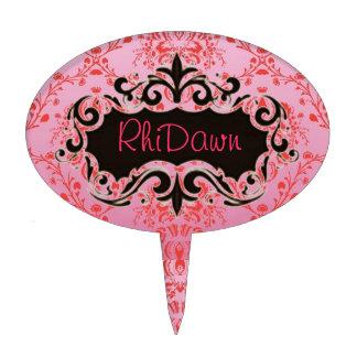 Selección rosada real de la torta figuras para tartas