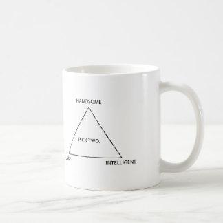 Selección solamente dos tazas de café