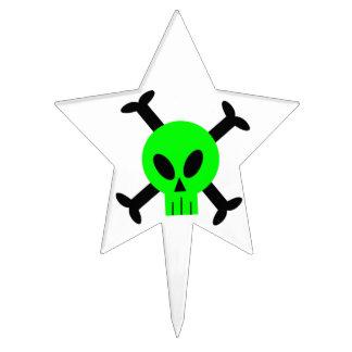 Selección verde del cráneo y de la torta de la ban palillos de tarta