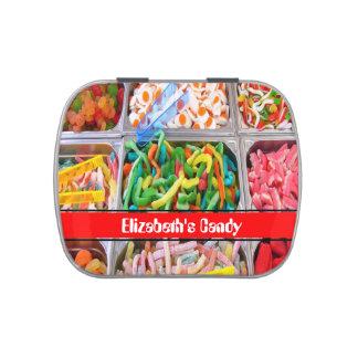 Selección y mezcla latas de dulces