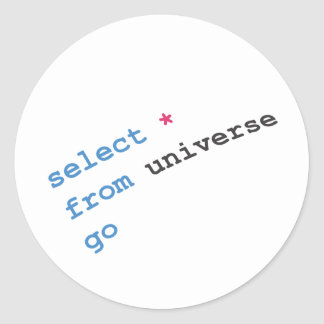 seleccione la estrella del universo pegatinas redondas