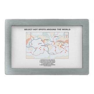 Seleccione los puntos calientes en todo el mundo hebillas cinturon rectangulares