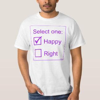Seleccione uno: Feliz o derecho Poleras
