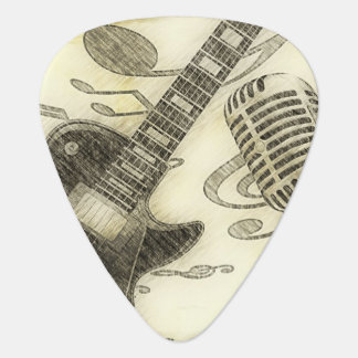 Selecciones de la guitarra y de la guitarra del mi púa de guitarra