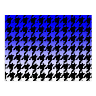 Select A Color Fade to White Houndstooth Postcard
