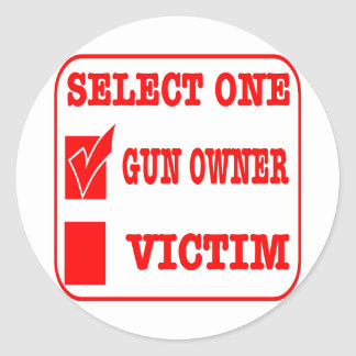 Select One Gun Owner or Victim Sticker