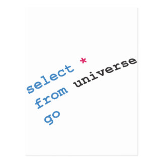 select star from universe postcard