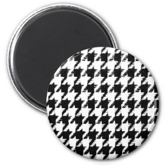 Select Your Color Houndstooth Pattern 2 Inch Round Magnet