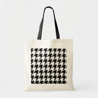 Select Your Color Houndstooth Pattern Tote Bag