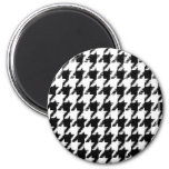 Select Your Color Houndstooth Pattern Fridge Magnet