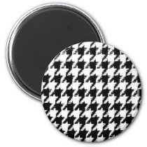 Select Your Color Houndstooth Pattern Magnet