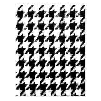 Select Your Color Houndstooth Pattern Postcard