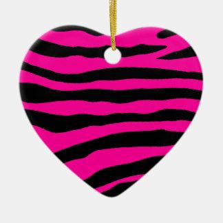 Select Your Color Zebra Stripe Ceramic Ornament