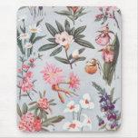 Selected State Flowers Vintage Art Illustration Mousepads