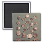 Selection Celtic and Roman  coins found Refrigerator Magnet