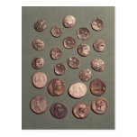 Selection Celtic and Roman  coins found Postcard