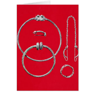 Selection jewellery, including brooch card