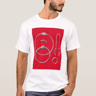 Selection jewellery, including brooch T-Shirt