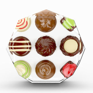 Selection of chocolate candies award