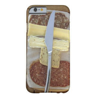 Selection of gourmet cheeses and cut meats barely there iPhone 6 case