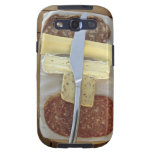 Selection of gourmet cheeses and cut meats samsung galaxy SIII case
