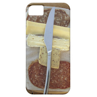 Selection of gourmet cheeses and cut meats iPhone SE/5/5s case