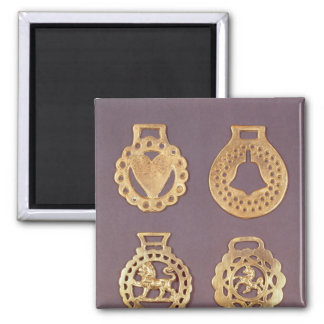 Selection of horse brasses magnet