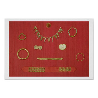 Selection of jewellery, Harappa, 2300-1750 BC Poster