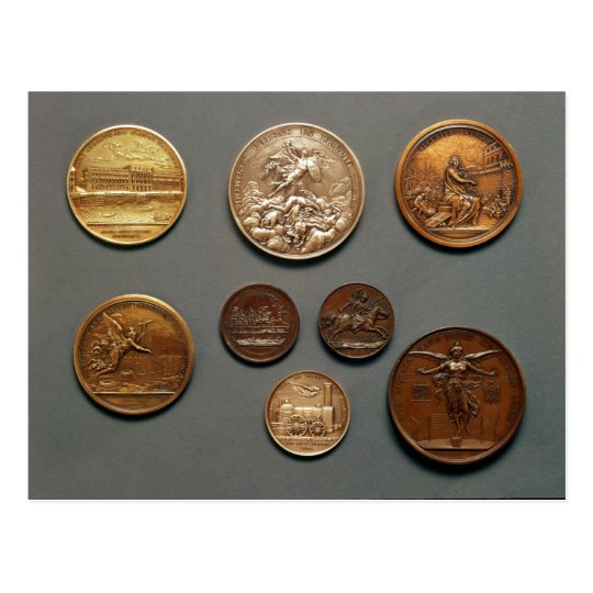 Selection of medals postcard