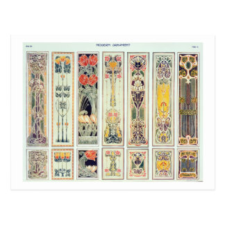 Selection of panel designs, plate IX from 'Modern Postcard