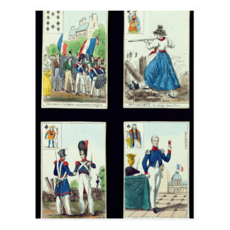 Selection of playing cards relating to