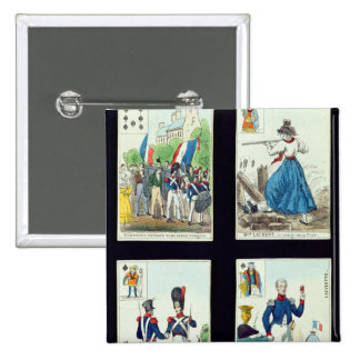 Selection of playing cards relating to button