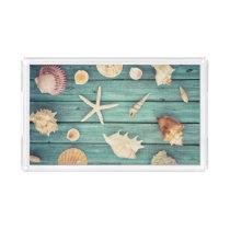 Selection Of Seashells Acrylic Tray