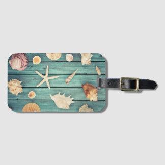 Selection Of Seashells Bag Tag